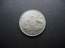Australia 6 Pence 1963 Elizabeth II - Vordezimale Münzen (1910-1965)