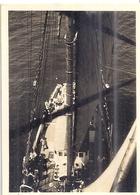 PHOTO PRISE DU HAUT D'UN MAT DE NAVIRE  .PHOTO SEPIA - Boats