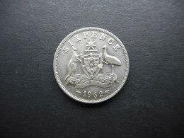 Australia 6 Pence 1962 Elizabeth II - Moneda Pre-decimale (1910-1965)
