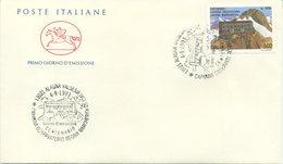 ITALIA - FDC  CAVALLINO  1993 -  CAPANNA OSSERVATORIO REGINA MARGHERITA - ANNULLO SPECIALE - 6. 1946-.. Repubblica
