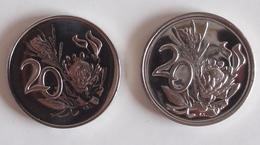 Coins South Africa 2 Coins 20 Cent 1974, 1967 - Afrique Du Sud