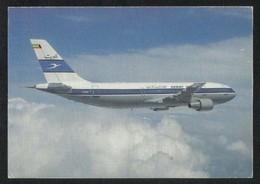 Kuwait Airways Picture Postcard Boeing AB 300/600 Airplane View Card - Koweït