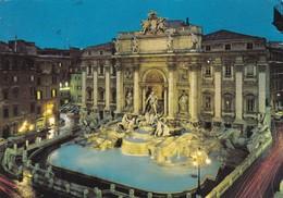 ROMA. FONTANA DI TREVI. NOTTURNO. OTTO.. CIRCULEE TO ARGENTINE 1980- BLEUP - Fontana Di Trevi
