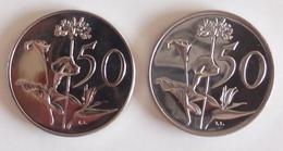 Coins South Africa 2 Coins 50 Cent 1974, 1967 - Afrique Du Sud