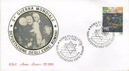 ITALIA - FDC  ROMA LUXOR 1993 -  DEPORTAZIONE EBREI ROMANI - ANNULLO SPECIALE - 6. 1946-.. Repubblica