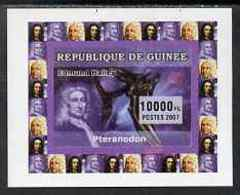 Guinea - Conakry 2007 Dinosaurs & Halley's Comet #3 SPACE ASTRONOMY Individual Imperf Deluxe Sheet Mnh Similar To Yv 566 - Guinea-Bissau