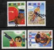 Namibia 2004 Athens Olympic Games BICYCLES WRESTLING BOXING SHOOTING Perf Set Of 4 With Part SPECIMEN Opt (goes Across 2 - Namibia (1990- ...)