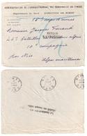 NIMES Gard Lettre Administration Finances Vers Front 1914 Retour Envoyeur Destinataire N'a Pu être Machine GARCIA NIM102 - Marcophilie (Lettres)