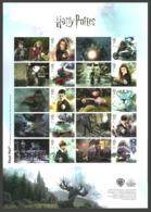 GB 2018 HARRY POTTER FILMS CHESS TRAIN MOTORBIKE COLLECTORS SHEET MNH - 1952-.... (Elizabeth II)