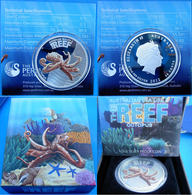 AUSTRALIA 50 C 2012 SILVER PROOF WILDLIFE AUSTRALIAN SEA LIFE THE REEF OCTOPUS PESO 15,591 TITOLO 0,999 CONSERVAZIONE PR - Australie