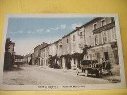 42 3547. CPA 1910 - 42 SURY LE COMTAL - ROUTE DE MONTBRISON - ANIMATION. CAMION DE TONNEAUX DE VIN - Francia