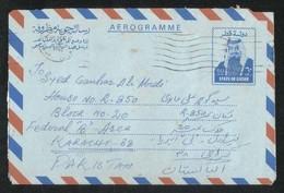 Qatar 1983 Air Mail Postal Used Aerogramme Cover Qatar To Pakistan - Qatar