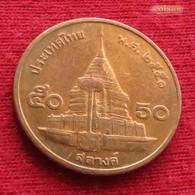 Thailand 50 Satang 1/2 Baht 2008 / 2551 Y# 203 Lt 617 Tailandia Thailande - Thaïlande