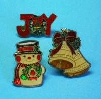 3 PIN'S //  ** JOYEUX NOËL / AMBIANCES DÉCORATIONS / TRADITION ** - Noël