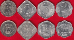 India Set Of 4 Coins: 2 - 25 Paise 1971-1979 UNC - India