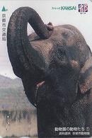 Carte Prépayée Japon - Série ANIMAUX SAUVAGES N° 1/6 - ANIMAL - ELEPHANT - ELEFANT Japan Lagare Card - 521 - Télécartes