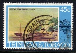 Trinidad & Tobago 1976 QE2 45ct Corbeaux Town Painting SG 490 ( G1275 ) - Trinidad & Tobago (1962-...)