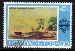 Trinidad & Tobago 1976 QE2 45ct Corbeaux Town Painting SG 490 ( G1274 ) - Trinidad & Tobago (1962-...)