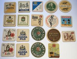 Lot 19 Sous-bocks Bière BEER MATS COASTER BIERDECKEL SOTTOBICCHIERE Stern Schöffen Kölsch DAB Tucher Leffe Stella ... - Beer Mats
