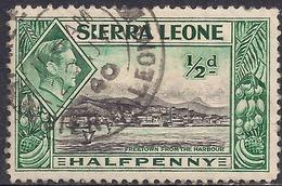 Sierra Leone 1938 - 44 KGV1 1/2d Green & Black SG 188 ( G1481 ) - Sierra Leone (...-1960)