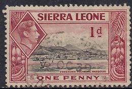 Sierra Leone 1938 - 44 KGV1 1d Lake & Black SG 189 ( G1480 ) - Sierra Leone (...-1960)