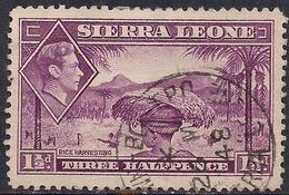 Sierra Leone 1938 - 44 KGV1 1 1/2d Mauve SG 190a ( G1478 ) - Sierra Leone (...-1960)