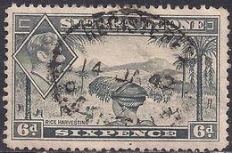 Sierra Leone 1938 - 44 KGV1  6d Grey SG 195 ( G1470 ) - Sierra Leone (...-1960)