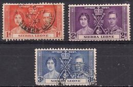 Sierra Leone 1937 KGV1 1d Orange Coronation SG 185 ( G1467 ) - Sierra Leone (...-1960)