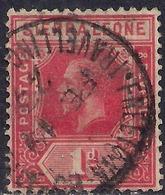 Sierra Leone 1912 - 21 KGV 1d Carmine Red SG 113 ( G1477 ) - Sierra Leone (...-1960)