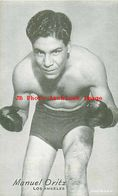 243957-Arcade Card, Boxer Manuel Oritz Of Los Angeles - Boxing