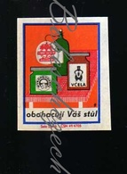 81-222 CZECHOSLOVAKIA 1969 Jednota COOP They Enrich Your Table Products Of Cooperatives Vcela - Honey, Mykoprodukta Musr - Boites D'allumettes - Etiquettes