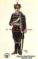 244001-Advertising Card, Squadron Rubin Miniatures Promo, Death Head Hussar Officer No 26 - Uniforms