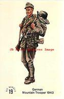 244005-Advertising Card, Squadron Rubin Miniatures Promo, German Mountain Trooper No 19 - Uniforms