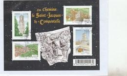 FRANCE 2012 BLOC OBLITERE SUR FRAGMENT LES CHEMINS DE SAINT JACQUES DE COMPOSTELLE - F4641 - F 4641 - Sheetlets