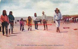 274645-Native American Apache Indians, White Mountain, Hoops & Javelin Games, Santa Fe Railroad - Native Americans