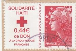 FRANCE 2010 SOLIDARITE HAITI  YT 4434 - OBLITERE SUR FRAGMENT - France