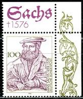 A12-33-7) BRD - Mi 1763 ECKE REO - ** Postfrisch (B) - 100Pf     Hans Sachs - Unused Stamps