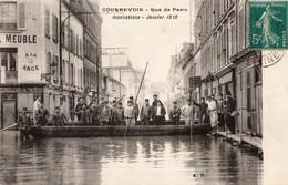 CPA - 92 - COURBEVOIE - Rue De Paris - Inondations - Janvier 1910 - Courbevoie