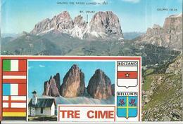 CARTOLINA ADESIVA TRE CIME DI LAVAREDO  (190) - Cartoline
