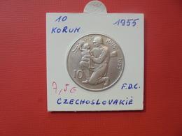 TCHECOSLOVAQUIE 10 KORUN 1955 ARGENT - Czechoslovakia