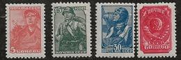 Russie 1939-1943 N° Y&T :   734 à 737 ** - 1923-1991 URSS