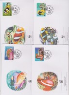 World Wide Fund For Nature 2003 Nauru- Fish ,Set 4 Official First Day Covers - FDC