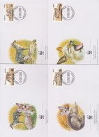 World Wide Fund For Nature 2003 Nigeria-Jackal ,Set 4 Official First Day Covers - FDC