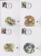 World Wide Fund For Nature 2003 Papua New Guinea-tree Kangaroo ,Set 4 Official First Day Covers - FDC