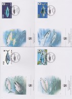 World Wide Fund For Nature 2004 Fiji - Tuna,Set 4 Official First Day Covers - FDC