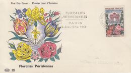 Enveloppe  FDC  Flamme  Du  1er Jour  FRANCE   Floralies  Internationales   PARIS  1959 - FDC