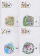 World Wide Fund For Nature 2004 Serbia-Insects $,Set 4 Official First Day Covers - FDC