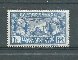 FRANCE -    Yvert  N° 245 *  LEGION AMERICAINE - France