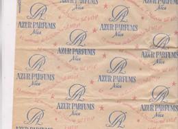 PAPIER CADEAUX IMPRIME AZUR PARFUMS A NICE - Vieux Papiers