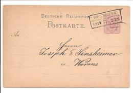 Ganzsache PKT DR. R3 Nachverw. Westhofen - Briefe U. Dokumente